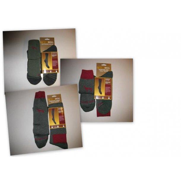 Prof. dog hunting sock. Knæ eller ankel strømpe.